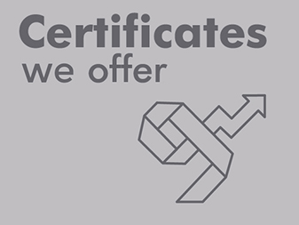 certificates we offer