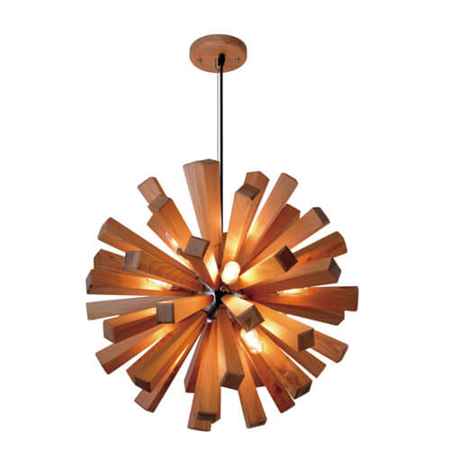 Wood Pendant Light WZL019