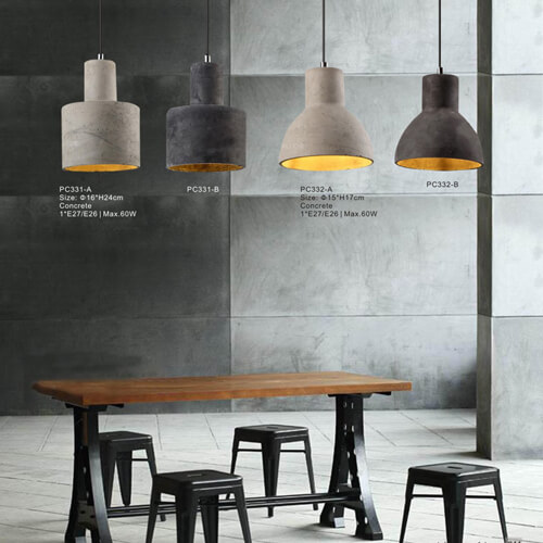 Concrete Pendant Light 331A /331B