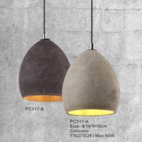 Concrete Pendant Light PC317A/PC317B