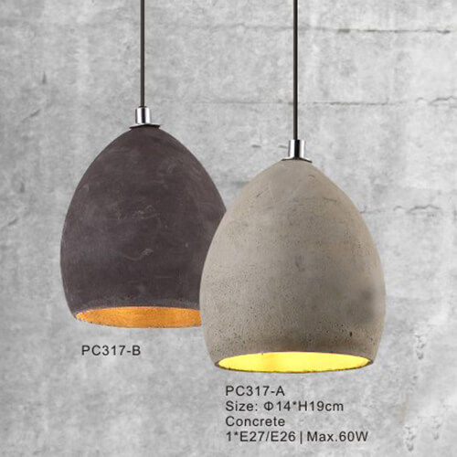 Concrete Pendant Light PC317A/PC317B
