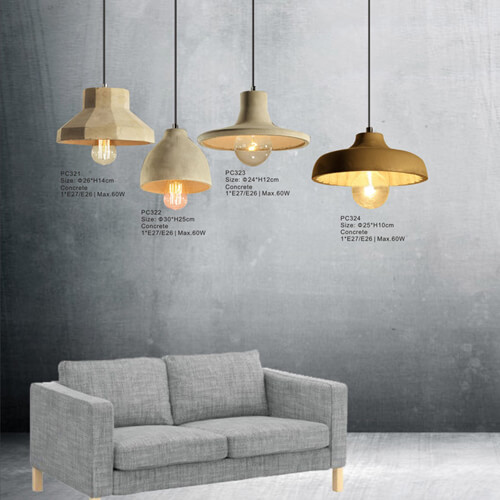 Concrete Pendant Light PC321/PC322/PC323/PC324