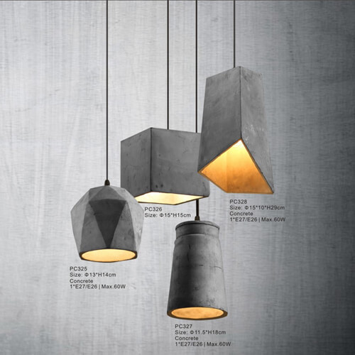 Concrete Pendant Light PC325/PC326/PC327/PC328