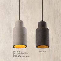 Concrete Pendant Light PC329A/PA329B