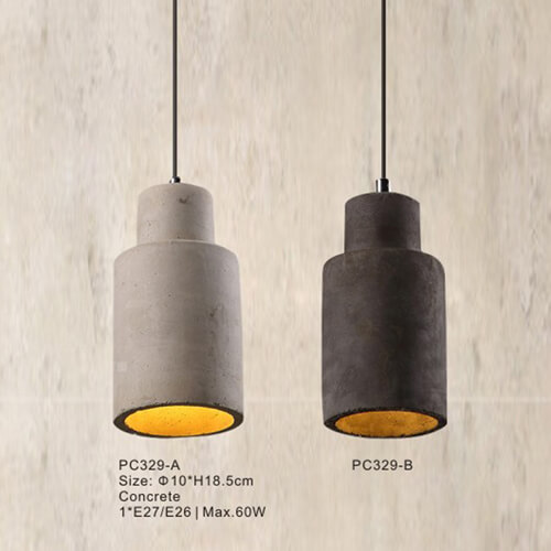 Concrete Pendant Light PC329A/PA329B