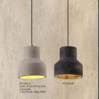 Concrete Pendant Light PC330A/PC330B