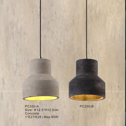 Concrete Pendant Light PC330A/PC330B