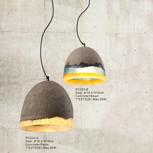 Concrete Pendant Light PC333A/PC333B