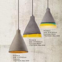 Concrete Pendant Light PC334A/PC334B/PC334C