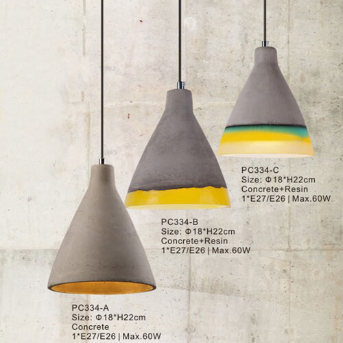 Concrete Pendant Light PC334A/PC334B/PC334C