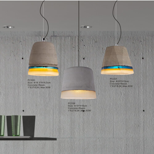 Concrete Pendant Light PC335/PC336/PC337