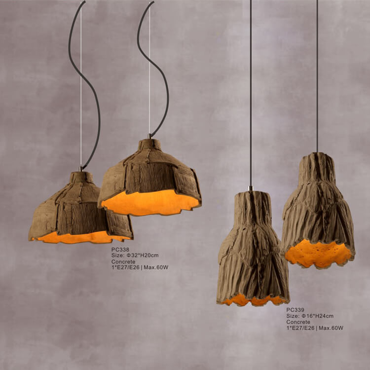 Concrete Pendant Light PC338/PC339