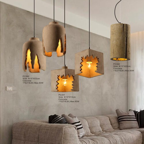 Concrete Pendant Light PC340/PC341/PC342