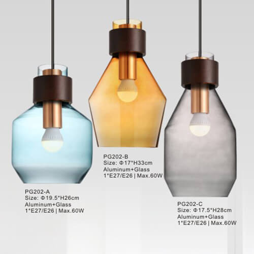 Glass Pendant Light PG202 A/B/C