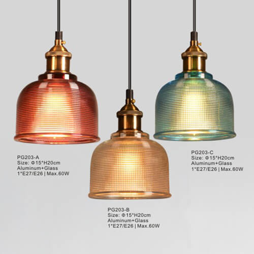 Glass Pendant Light PG203 A/B/C