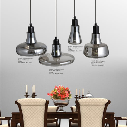 Glass Pendant Light PG207-A/B/C/D
