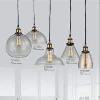 Glass Pendant Light PG208-A/B/C/D(Clear,Amber)