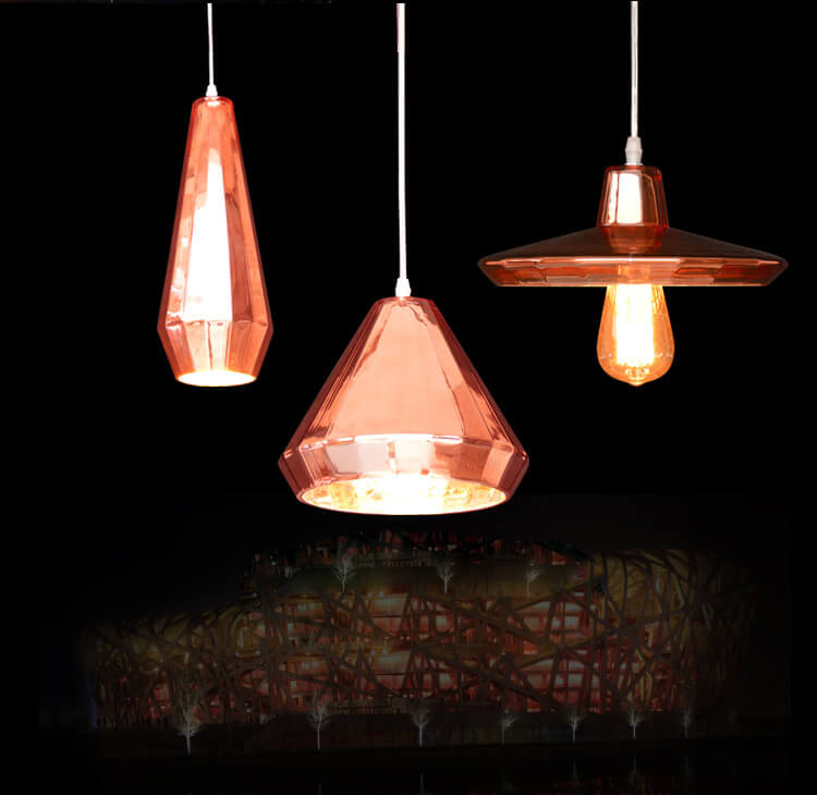 Glass Pendant Light (Pink) -PG209A/B/C