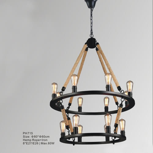 Hemp Rope pendant light PH715
