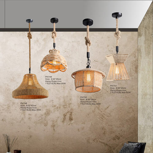 Hemp Rope Pendant Light PH748/749/750/751