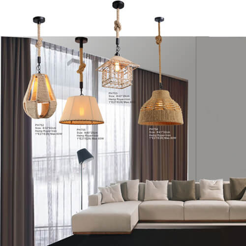 Hemp Rope Pendant Light PH752/753/754/755