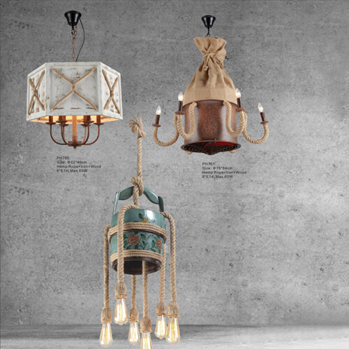 Hemp Rope Pendant Light PH760/761/762