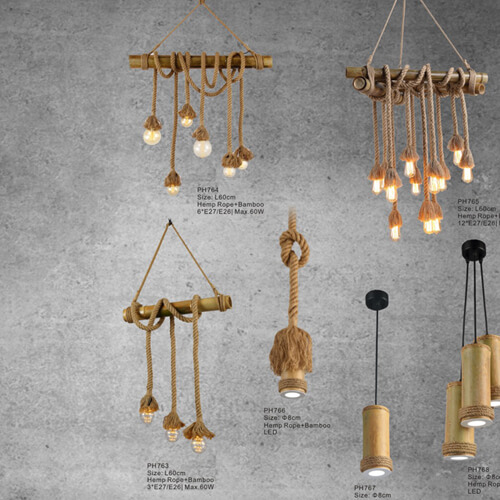 Hemp Rope Pendant Light PH763-PH768