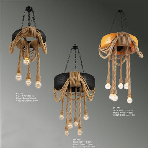 Hemp Rope Pendant Light PH769/770/771