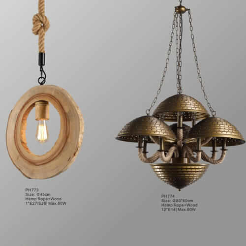 Hemp Rope Pendant Light PH773/774