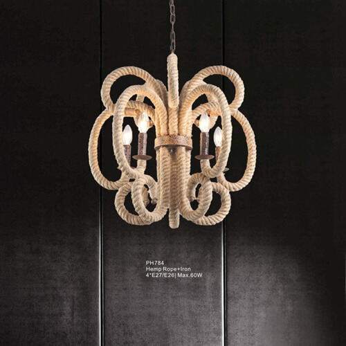 Hemp Rope Pendant Light PH784
