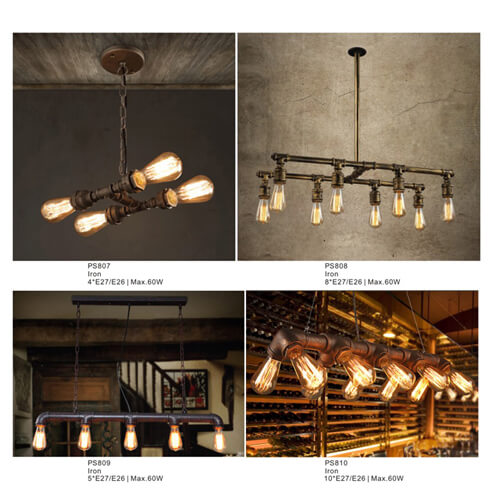 Pipe Pendant Light PS807-PS810