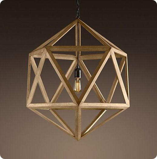 wooden pendant light WZL007